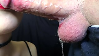 DEEP SLOPPY SLOBBERY BLOWJOB 4K 60FPS ! Cum in mouth Yummy