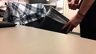 jerking off in the office at work